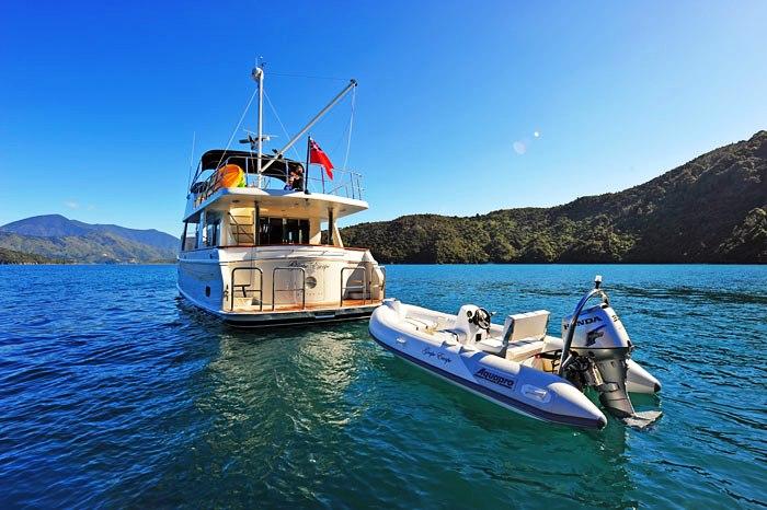 blue ocean trawler