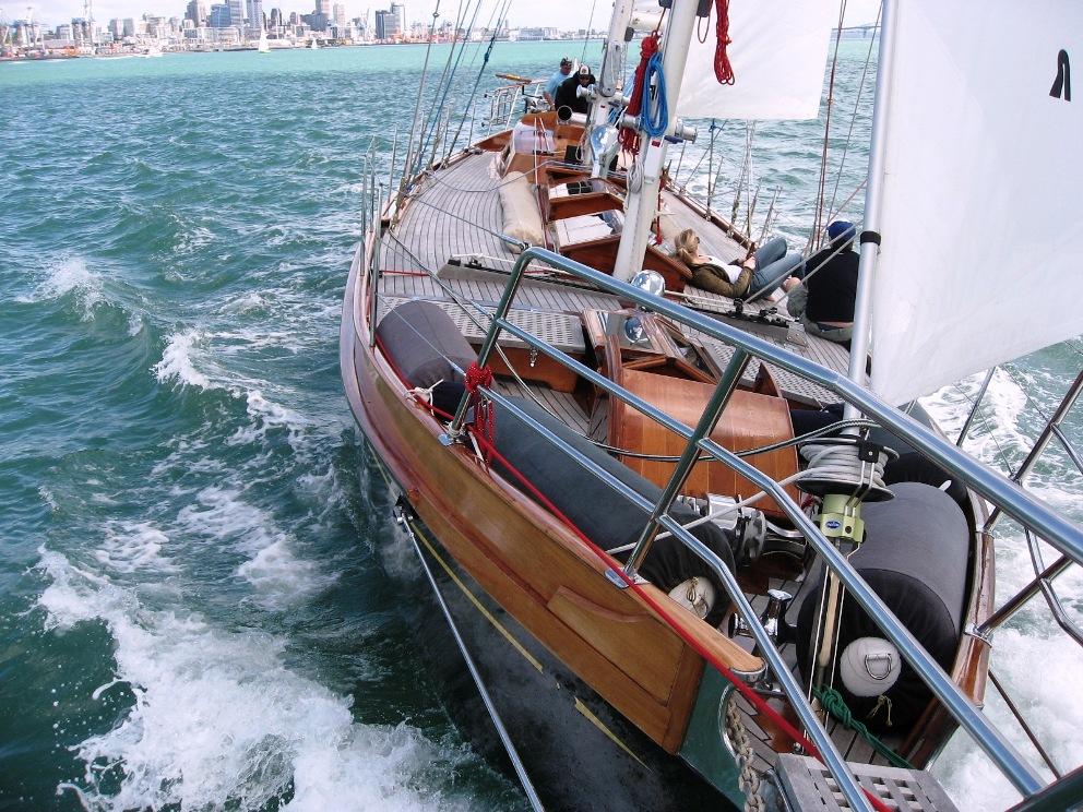 Haparanda charter boat auckland 70ft classic schooner for Fishing charters auckland