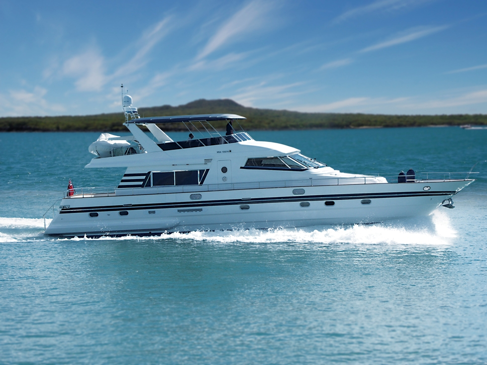 Nirvana charter boat auckland 73ft motor launch decked for Outboard motors for sale nz