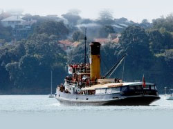 William C Daldy Charter Boat 38m Vintage Steam Tug Decked Out
